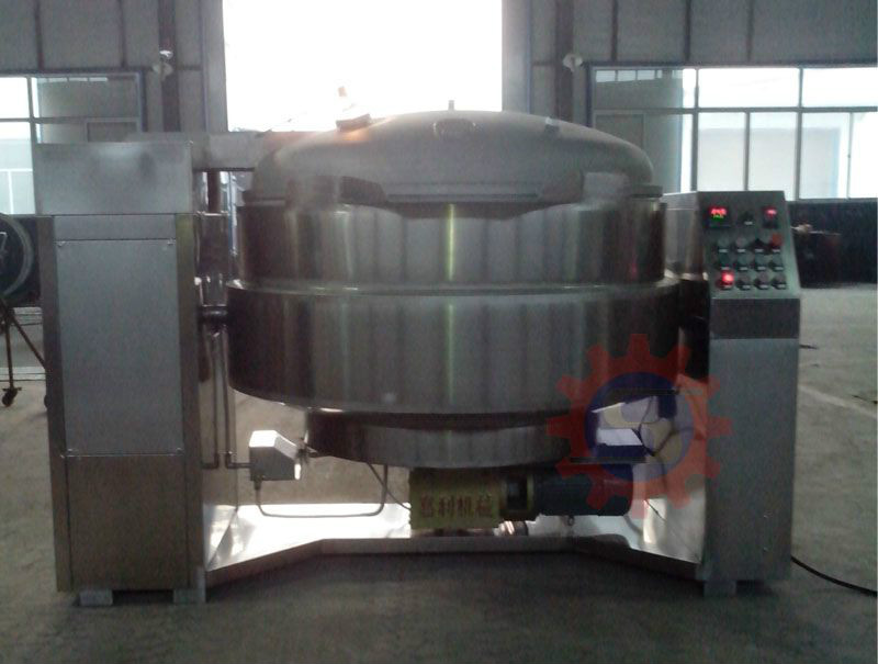 Gas vacuum jacketed kettle