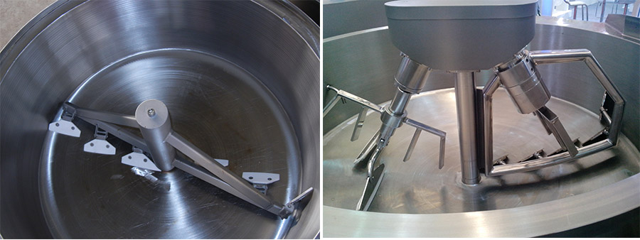 Tomato sauce jacketed kettle with mixer