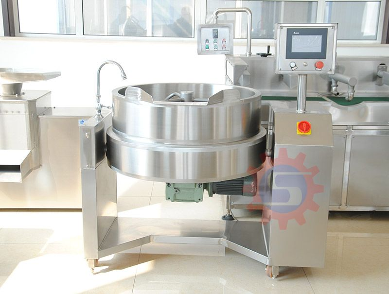 Khoya jacketed kettle with mixer