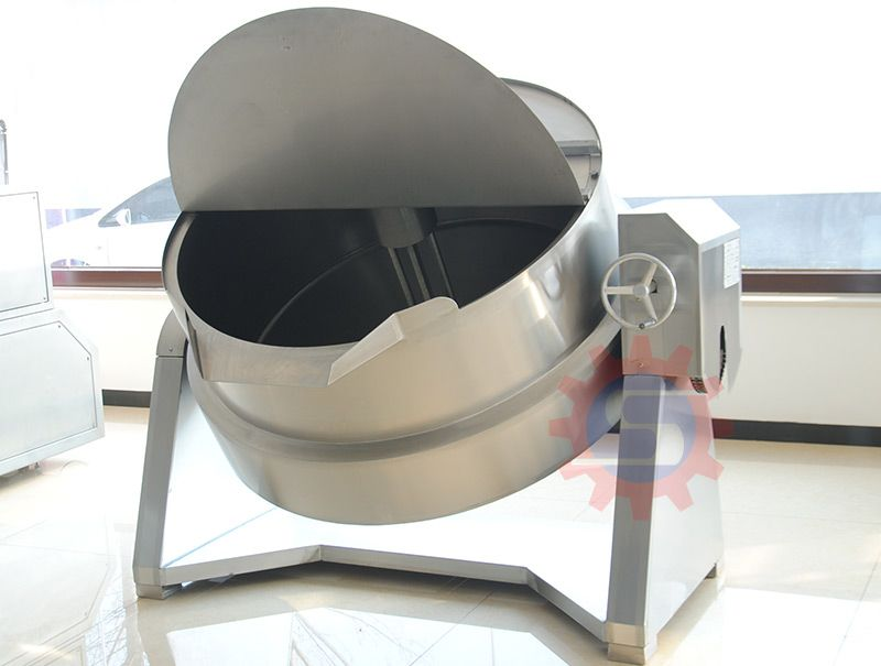 Emulsifying jacketed kettle with lid
