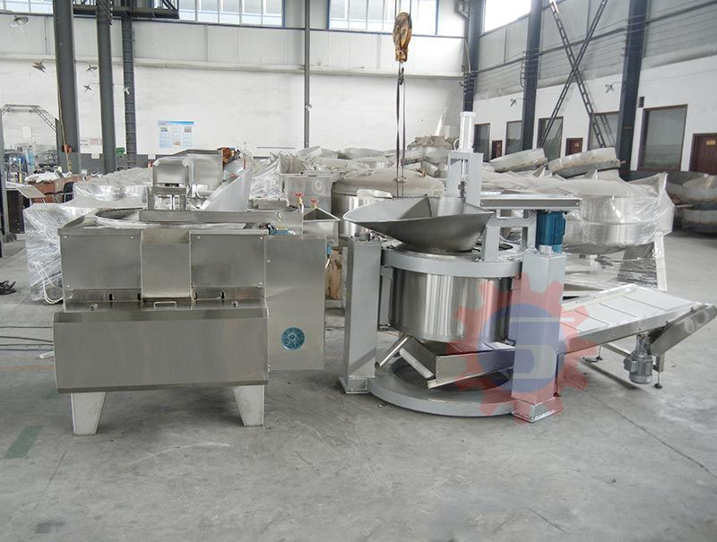 Fried food deoiling machine (bottom discharge)