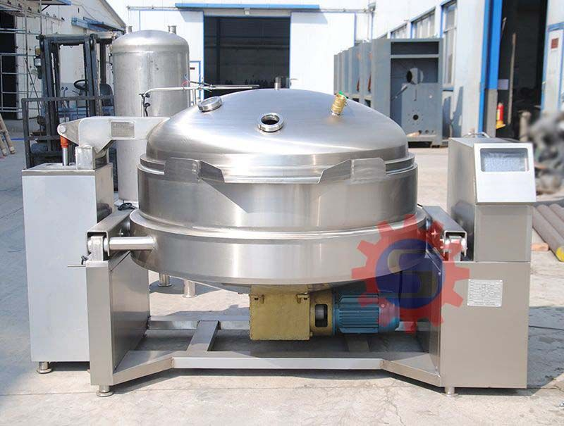 Electric vacuum jacketed kettle